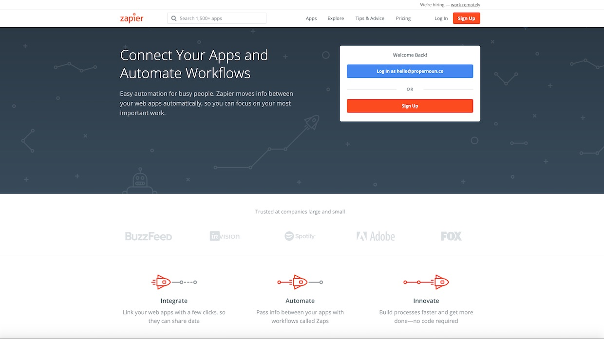 Zapier for content syndication